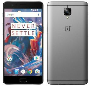 "OnePlus 3 64GB Grey Graphite (FACTORY UNLOCKED) 5.5"" Full HD , 16MP , 6GB RAM"