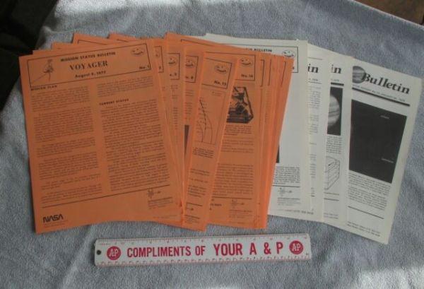First 32 Voyager Mission Status Bulletins 1978-79 Jupiter ...