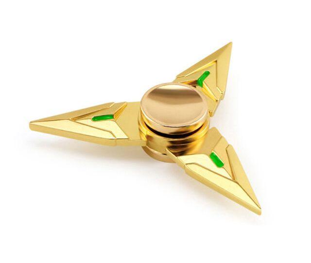 Hand Fidget Spinner Zinc Alloy Triangle Dart Shaped Toy Adhd Autism Focus Edc
