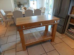 grand chene anglais bouchers bloc ilot cuisine table