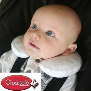 details about clippasafe baby neck pillow support head car seat travel newborn from birth uk