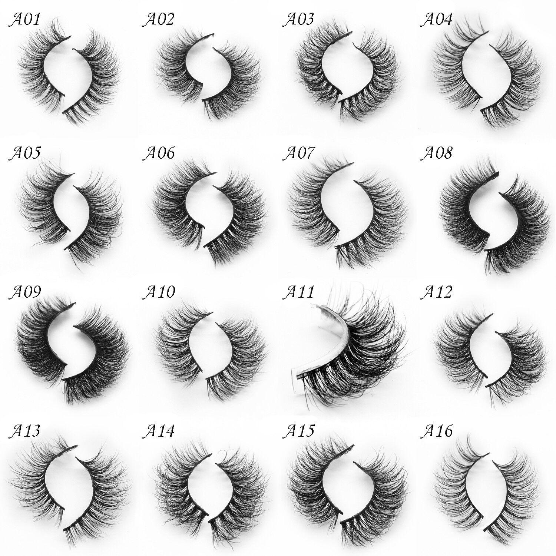 1 Pair New Soft Design 3d 100 Real Mink False Eyelashes