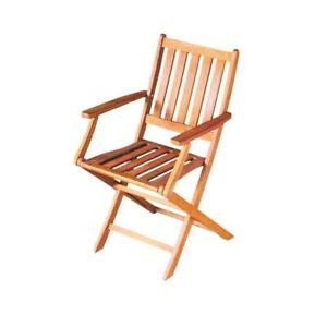 Set di 2 sdraio da giardino con tavolino, portabicchieri e cuscino per la testa regolabile, sedie sdraio pieghevoli ergonomica traspirante,sedia. Set 2 Sedie In Legno Di Acacia Con Braccioli Da Esterno Pieghevole Ebay