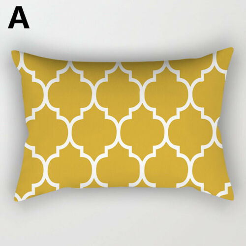 nordic yellow rectangle pillow cases throw cushion cover sofa home office decor