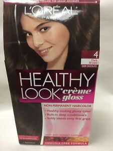 l oreal healthy look creme gloss hair color dark brown dark chocolate 4 new ebay