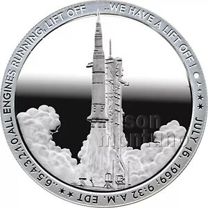 LIFTOFF - 2019 Apollo 11 50th Anniversary 1oz Silver Coin ...