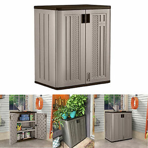 details about outdoor storage cabinets suncast lawn yard patio garden deck utility shed s