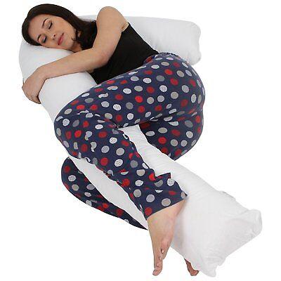 l shaped pillow or case pregnancy maternity body pillow best full comfort ebay