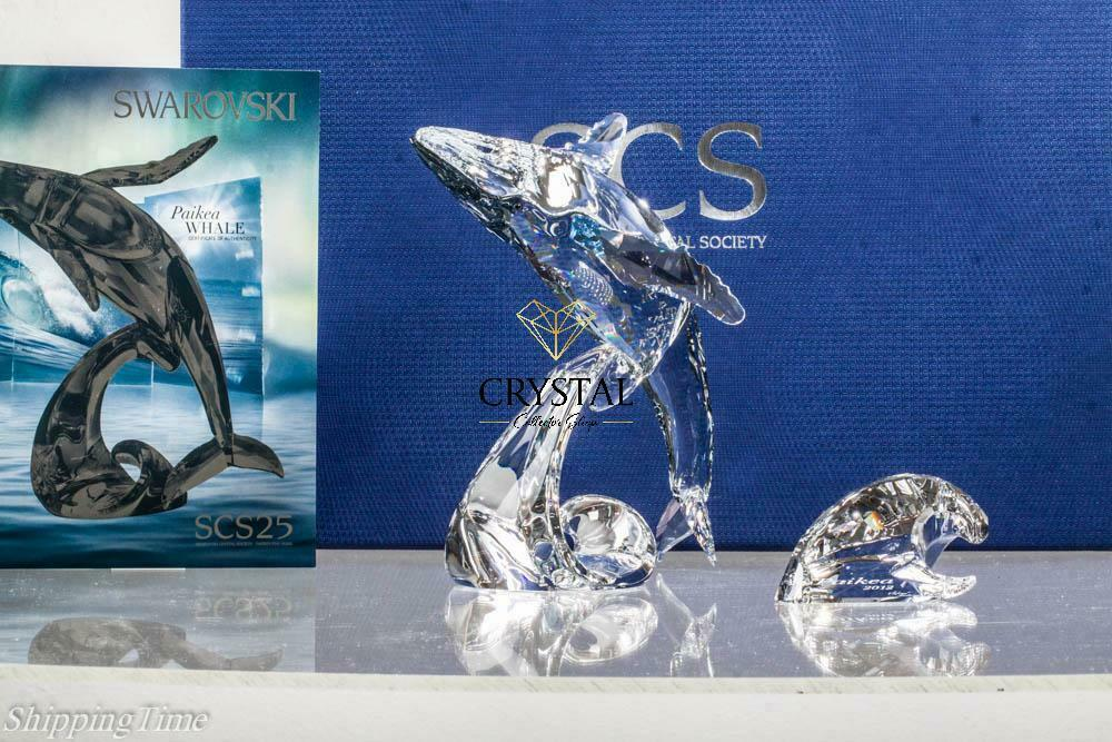 SWAROVSKI SCS 2012 Wal Whale Paikea + Young Annual 1095228+1096741