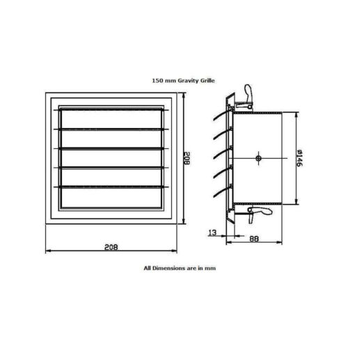 home improvement wall vent soffit gravity grille bathroom extractor fan ducting 4 5 6 spigot heating cooling air
