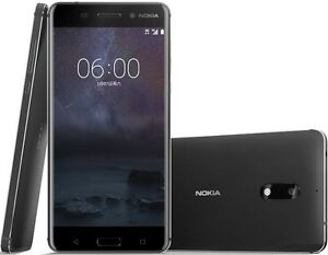 "Nokia 6 Dual SIM 64GB Black 5.5"" 4GB RAM 16MP Android with Playstore US FREESHIP"