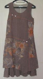 details sur robe marron clair decors floraux afibel taille 38