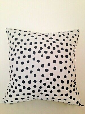 polka dotted indoor outdoor soft black white pillow square cushion cover 45 cm ebay