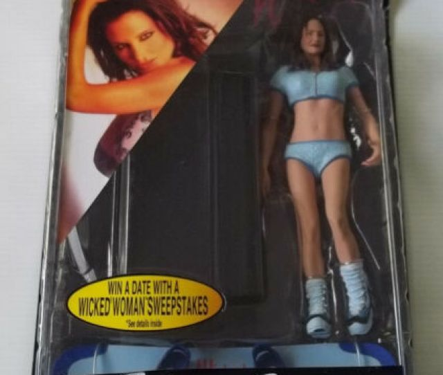 The Women Of Wicked Sydnee Steele Blue Snowboard Outfit Plastic Fantasy Nip