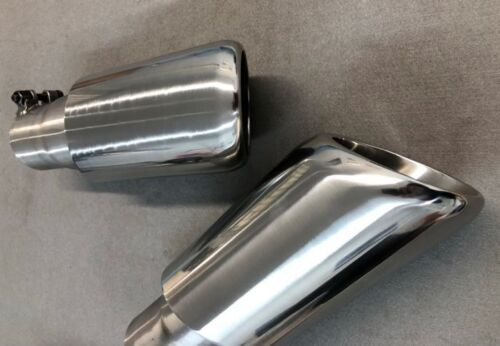 car parts twin exhaust tail pipe tips fully brushed stainless steel range rover sport 09 dr lowinski
