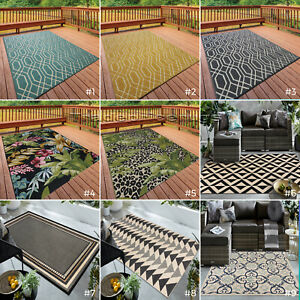 details about small extra large indoor outdoor patio conservatory garden geometric rugs mats