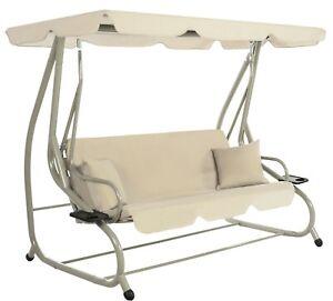 details sur bascule fauteuil suspendu 470390a cappucino balancoire jardin 2 personnes tutumi