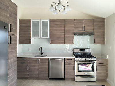 ikea brokhult kitchen cabinet doors drawer faces sektion gray walnut finish ebay