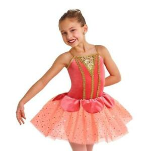 details about dance costume small child peach ivory ballet yagp curtain call princess solo