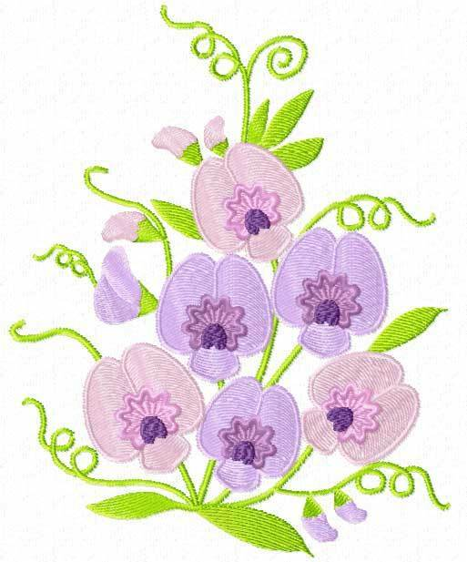 sweet pea embroidery # 10
