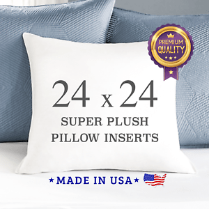 details about 24x24 throw pillow insert sham square euro pillow stuffing premium quality usa
