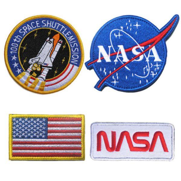 4pcs United States NASA Badge Patch Set Embroidered Flag ...