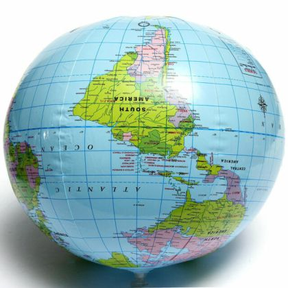 Inflatable Blow up World Globe 40cm Earth Atlas Ball Map Geography     Inflatable Blow Up World Globe 40CM Earth Atlas Ball Map Geography Toy ffUS