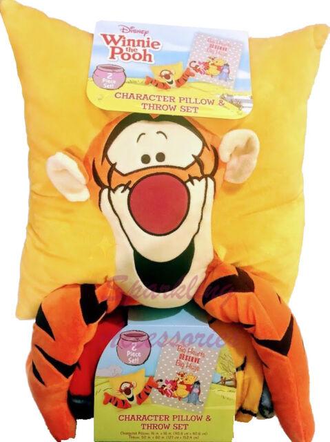 disney winnie the pooh tigger character pillow throw blanket set kids gift