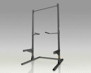 details about barbell squat stand power rack freestanding pull up bar equipment back in stock