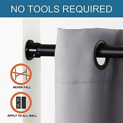 tension rod 80 120 inch adjustable black 96inch 8ft heavy duty curtain shower ebay