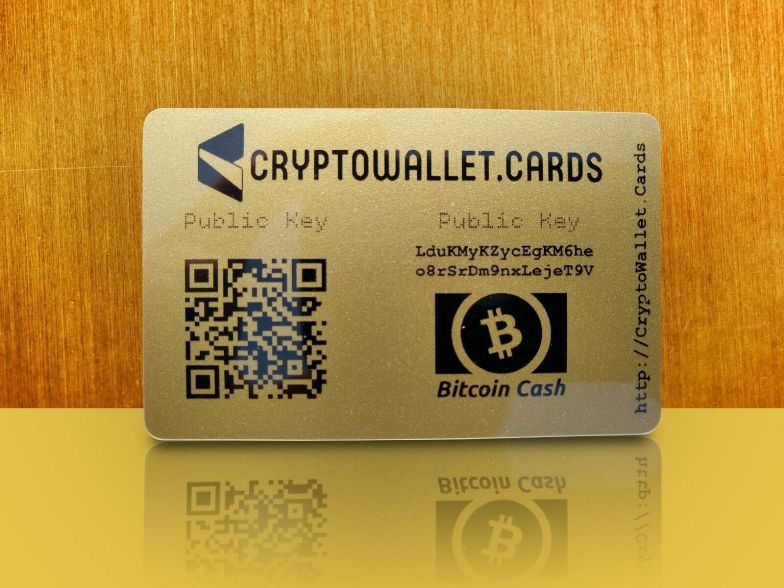 S l1600 Bitcoin Cash BCH Storage Wallet Cards