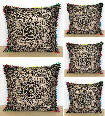 5 pcs set of 24x24 black gold pillow covers cushion cover room decorativ throw ebay