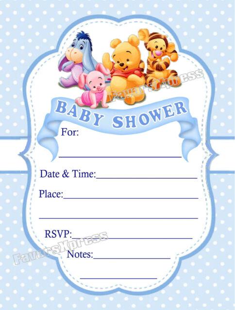 20 winnie the pooh baby shower invitations w envelopes