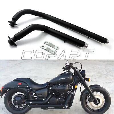 shortshots staggered exhaust pipe kit fits for honda shadow vt 750 vt400 ebay