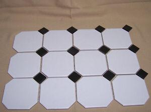 details about 1 sheet 3x4 tiles 3 5 white with black diamond kmt tiles new kitchen bath