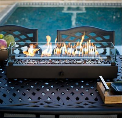 outdoor tabletop gas fire pit patio table top propane fireplace bowl heater new ebay