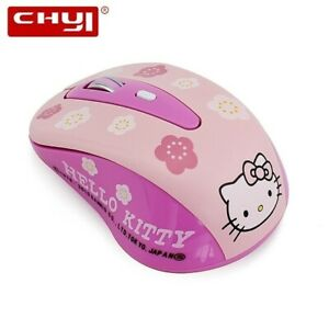 Wireless Hello Kitty Pink Gaming Computer Mouse Mini Gift 1600dpi Cute Pc Laptop Ebay