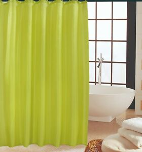 details about high quality bathroom shower curtain curtains with matching hooks lime green