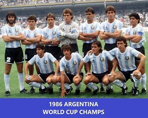 1986 ARGENTINA 8X10 TEAM PHOTO SOCCER PICTURE WORLD CUP ...