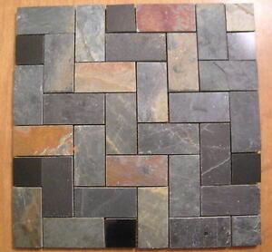 details about slate herringbone granite mosaic tiles floors walls backsplash free priority s h