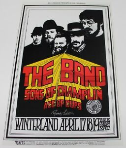 details about 1969 the band concert poster randy tuten artist signed winterland san fran bg169