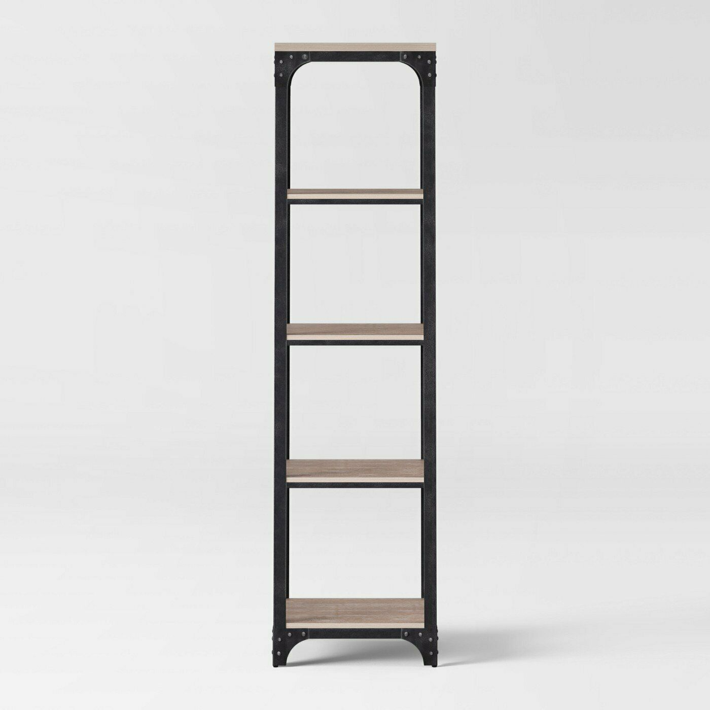 Threshold 72 Franklin 5 Shelf Narrow Bookcase Gray