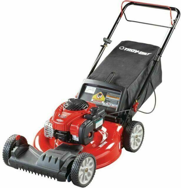 Troy Bilt Tb200 21 Inch 140 Cc 550e Series Gas Lawn Mower For Sale Online Ebay