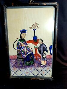 Magnificent 19th Century Qing Dynasty Chinese Framed Pith Painting