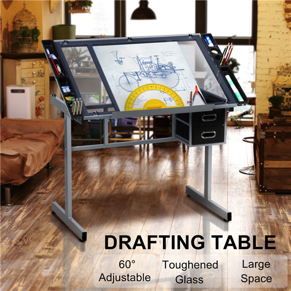 adjustable drafting table art artist drawing craft desk table for home office