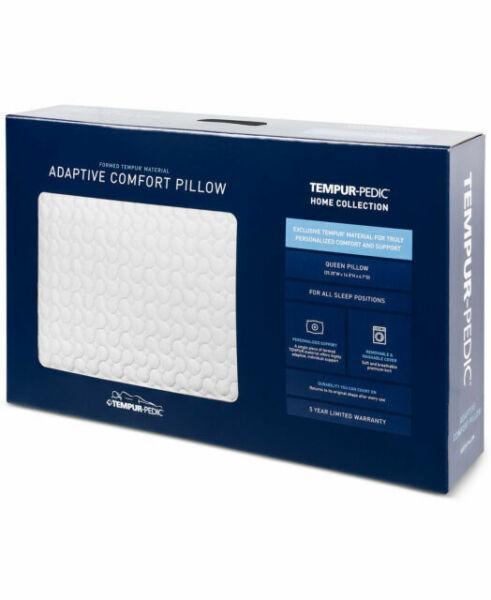 tempur pedic adaptive comfort memory foam queen pillow bedding f1285