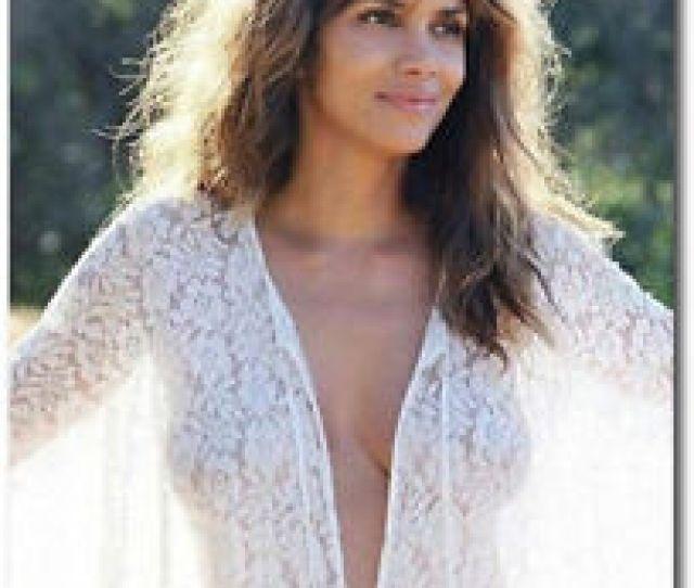 Halle Berry Sexy Posts White Dress Fridge Magnet Size