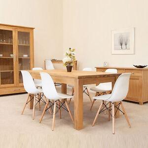 details sur lot de 4 chaises design tendance retro bois chaise de salle a manger
