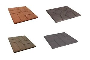details about 16 x 16 reversible brickface etna 100 recycled rubber paver red brown gray