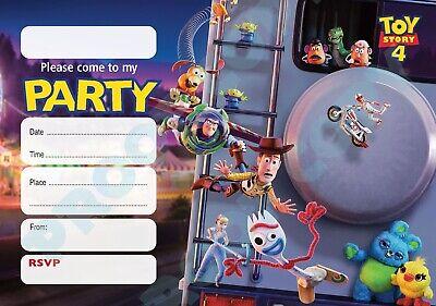 98 toy story 4 pack of 10 kids children birthday party invitations ebay